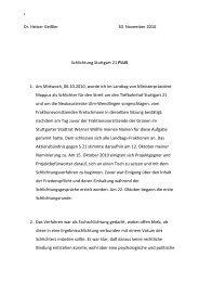Schlichterspruches - Schlichtung Stuttgart 21