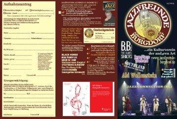 Wir fördern klangvolle Konzerte! - Jazzfreunde-Burgdorf