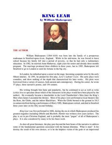 argumentative essay on king lear