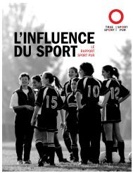 Le rapport Sport pur - Canadian Centre for Ethics in Sport