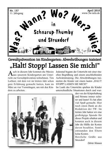 April 2010 - Wann? Wo? Wer? Wie? in Schnarup-Thumby
