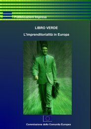 Libro verde sull'imprenditorialità in Europa, COM ... - Docente.unicas.it