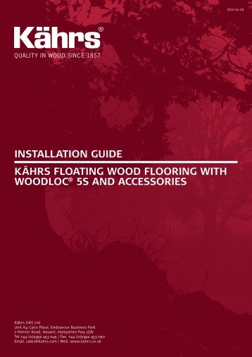 installation guide kährs floating wood flooring with woodloc® 5s and ...