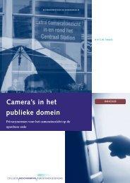 Camera's in het publieke domein - College bescherming ...