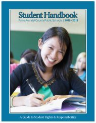 Student Handbook - Anne Arundel County Public Schools