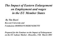 The Impact of Eastern Enlargement on Employment and wages in ...