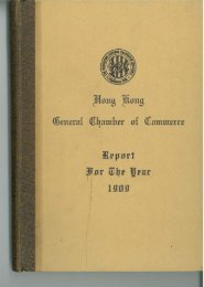 1909 - The Hong Kong General Chamber of Commerce