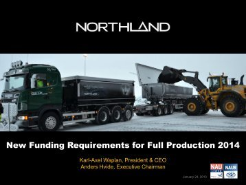 Web Cast Presentation January 25, 2013 - Northland Resources