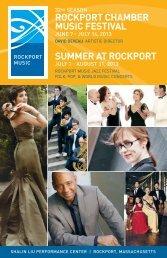 ROCKPORT CHAMBER MUSIC FESTIVAL SUMMER AT ROCKPORT