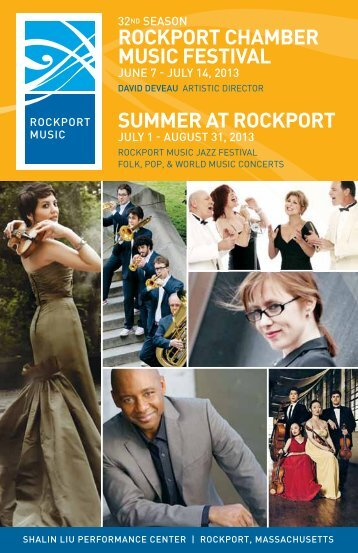 ROCKPORT CHAMBER MUSIC FESTIVAL SUMMER AT ROCKPORT