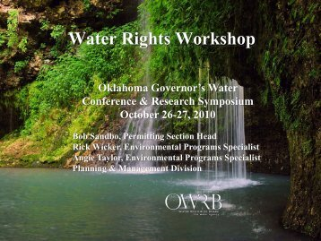 Water Rights Workshop - Water Resources Board