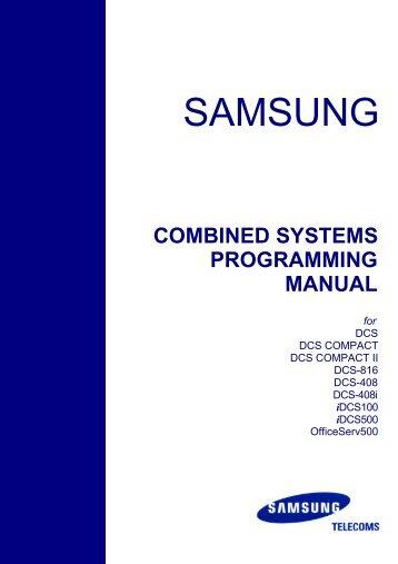 dcs 816 system admin guide samsung telephone systems rh yumpu com samsung dcs compact installation manual samsung idcs 28d programming manual
