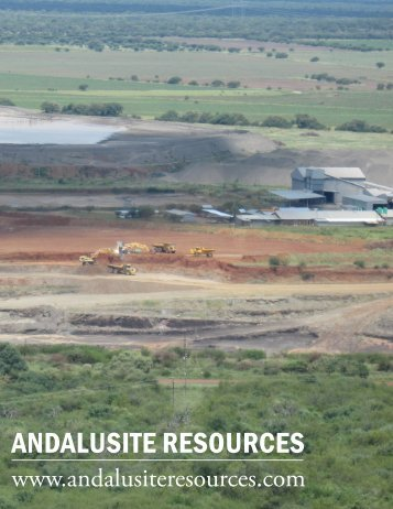 ANDALUSITE RESOURCES - The International Resource Journal