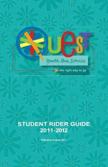 stUdent RIdeR GUIde 2011-2012 - Nashville MTA
