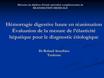 fiabilité de la mesure de l'élasticité hépatique pour le diagnostic