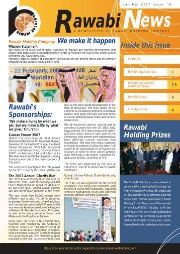 Rawabi Holding Newsletter Issue 10