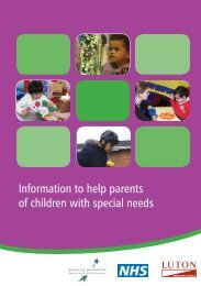 Information to help parents of children with special needs