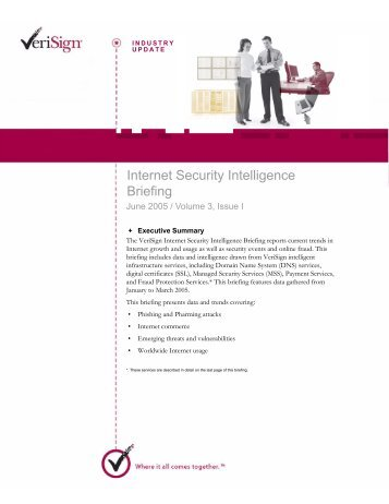 Internet Security Information Briefing, Vol. 3, Issue I - VeriSign