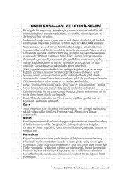 yazım kuralları ve yayın ilkeleri - KASTAMONU EĞİTİM DERGİSİ