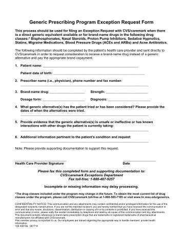 Formulary Exception / Prior Authorization Request Form - Geisinger