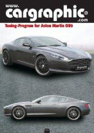 Tuning-Program for Aston Martin DB9 - Cargraphic