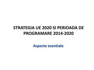 Strategia UE 2020 - Agentia pentru Dezvoltare Regionala Nord-Est