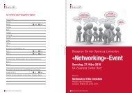«Networking»-Event - Stiftung Speranza