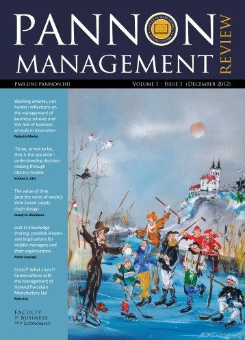 Download this issue - Pannon Management Review