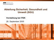 Abteilung Sicherheit, Gesundheit und Umwelt ... - ITEK - ETH Zürich