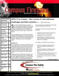 NFPA 72 on Campus - Center for Campus Fire Safety