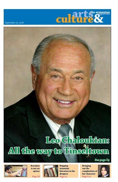 Leo Chaloukian: All the way to Tinseltown - Armenian Reporter