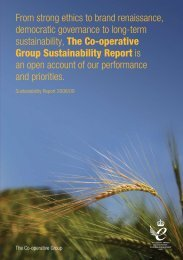 Sustainability Report 2008 - The Co-operative