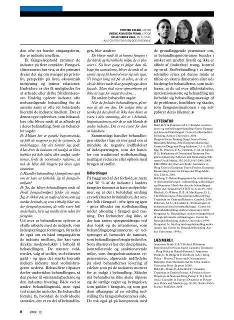 TIDSSKRIFT FOR STOFMISBRUGSOMRÁDET n r . 1 2 . v in t e r 2 0 ...
