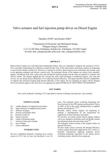 Valve actuator and fuel injection pump driver on Diesel Engine