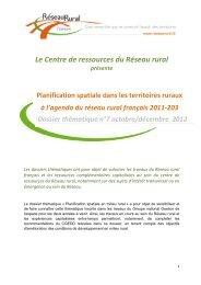 Planification spatiale dans les territoires ruraux - Réseau Rural ...