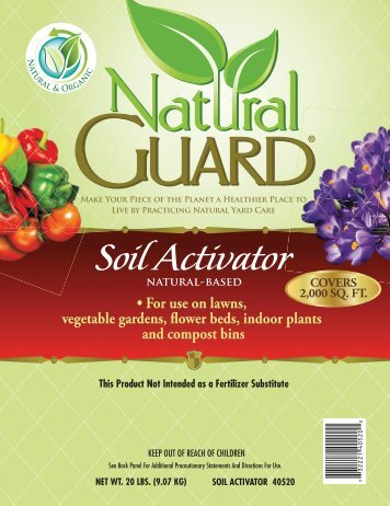 Label 40520 Soil Activator Approved 09-20-11 - Fertilome