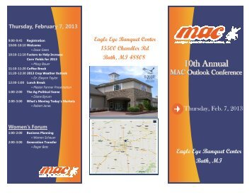 to view our full MAC Outlook Conference Program - Michigan ...