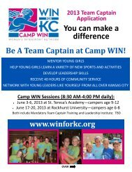 You can make a difference - Kansas City Sports Commission