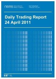 Daily Trading Report 24 April 2011 - EMC - Energy Market Company