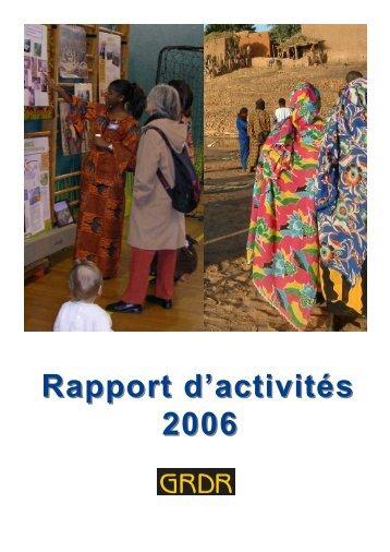 Rapport d'activités 2006 - GRDR