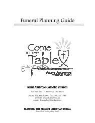 Funeral Planning Guide (Updated 8/23/2012) - Saint Ambrose Parish