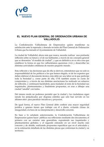 Documento Propuestas CVE para el PGOU