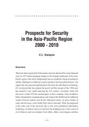 1. Prospects for Security in the Asia-Pacific Region 2000-2010