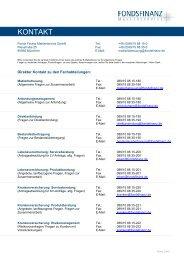 KONTAKT - Fonds Finanz Maklerservice GmbH