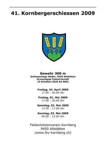 Schiessplan Kornbergerschiessen 2009 - Feldschützenverein ...