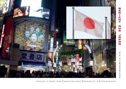 Einladungsflyer Bericht aus Japan