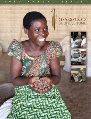 2010 Annual Report - Grassroots Business Fund