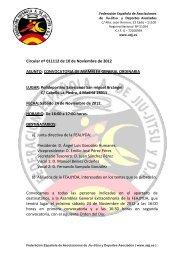 Asamblea General Ordinaria FEAJJYDA 2012 - Federación ...