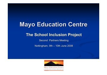 View the presentation in English [PDF] - School Inclusion