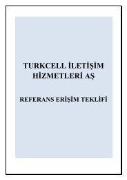 TURKCELL İLETİŞİM HİZMETLERİ AŞ - Telekomünikasyon Kurumu